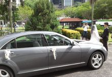 Mercedes S300L wedding limo service by Wedding Limo Service