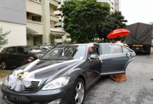mercedes S300L wedding Limo Service in December by Wedding Limo Service