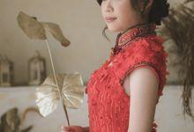 Crimson Bloom - Engagement Dress by Cava Atelier