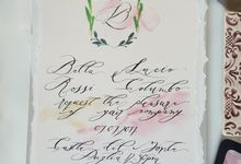 Protea Chic Handmade Wedding Invitations by Crimson Letters