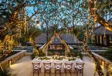 Wedding Decor at Como Shambala Estate by Red Gardenia