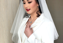 Wedding makeup for Mrs. Thea by Conni Helena