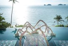 Over water wedding at Conrad Koh Samui by BLISS Events & Weddings Thailand