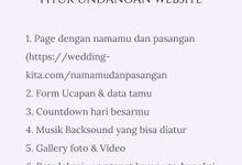 Undangan Digital Website Custom 3 by Wedding kita invitation