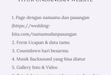 Undangan Digital Website Custom 6 by Wedding kita invitation