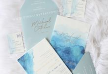 Michael & Ctahlin in blue colour by Vinas Invitation
