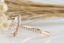 Marquise Cut Diamond Engagement Ring by Gemone Diamond