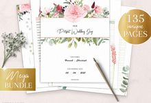Printable Wedding Planner | Wedding Organizer | Bridesmaid Planner | Bride Planner | Wedding Checklist | 135 Pages Printable Planner by CreativeRobin