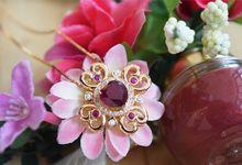 Crimson Fleur Pendant by Vault Fine Jewellery