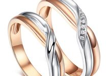 TIARIA Crossed Road Diamond Wedding Ring Perhiasan Emas Cincin Nikah Berlian by TIARIA