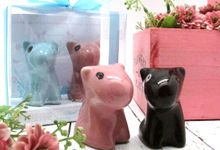 Salt & Pepper include Clear Box & Personalised Background by Fine Souvenir