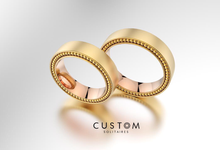 Wedding bands catalog his and hers by Custom Solitaires, LLC