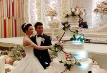 happy wedding for Bhowo & Adelein by Pelangi Cake