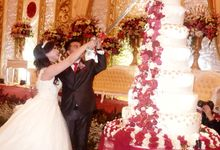 happy wedding for Andy & Patricia by Pelangi Cake