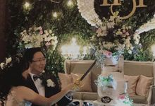 weddiing cake  for Joshua & Grace by Pelangi Cake