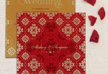 Wedding invitation design for Akshay & Sanjana wedding by 123WeddingCards