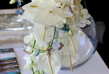 White decoration by Bali Florist-Studio Alami