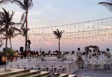 Beach Wedding Reception by Bali Sewa Sewa
