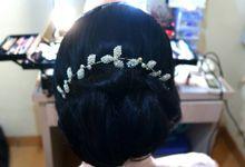 Make Up & Hair Do for Bridesmaid by MarisaFe Bridal