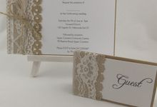 Kraft Lace Invites by Playing With Paper