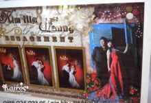 Kim Hie & Fanny Lin Wedding 3d Photo Frame by Kairos Wedding Invitation