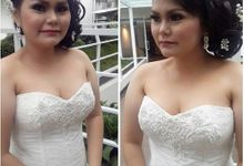 Laurin Valensy's Wedding by Angela Devina Make Up Artist