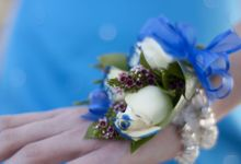 Corsage, Favor Box, Flowery Paper Tissue Decoration by Jolie Belle