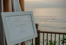 The wedding of Carman & Dan by Alomora