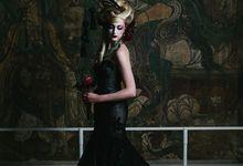 Dark Fantasy Asian Wedding Style Editorial Shoot by Asian Fusion Weddings