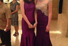 Purple Evening Gown by Gladicious