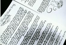 Custom Calligraphy Poems Vows and Songs by Calligraphy By Jennifer