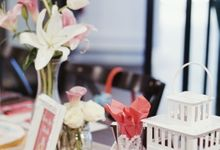 Bridal Shower Table Decoration by Wonder Wheel Project