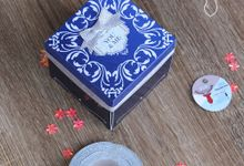 Elegant Navy Exploding Box (3layer) by Cora Craft