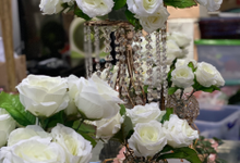 White table decor by decoridation