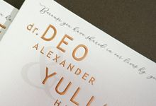Deo & Juju by Meltiq Invitation