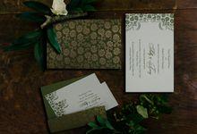 Glitter Shine Wedding Invitation Cards by IndianWeddingCards