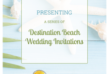 Destination Beach Wedding Invitations by Happy Invites