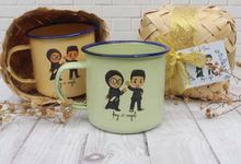 Wedding Desy & Ragil - Souvenir Mug Enamel by Greenbelle Souvenir