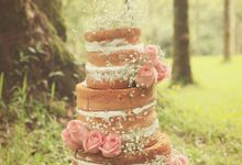Rustic Wedding Cakes 2015 by Creme de la Creme Bali