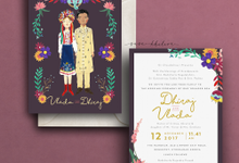 Custom Illustration Invitation by Sasa Khalisa Illustration & Design