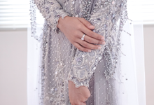 Gaun Resepsi Silver (Rental & Custom Made) by Dinda Firdausa Kebaya