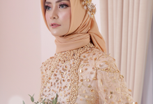 Gaun Resepsi Gold (Rental & Custom Made) by Dinda Firdausa Kebaya