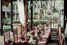 Seductive Marsala Wedding theme Decoration by Tirtha Bali