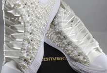 Pearls & Bling Custom Converse by DivineUnlimited