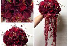 Red Cascade Bouquet by Casa d'Fleur