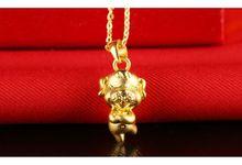 Tiaria Zodiac Dog Gold Pendant Perhiasan Liontin Emas by TIARIA