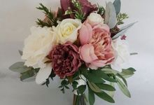 Dusty Pink With Cream Champagne by Dorcas Floral