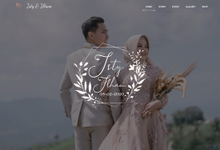 Website Invitation (desktop view) for the wedding of Isty & Ilham by Bersenyawa