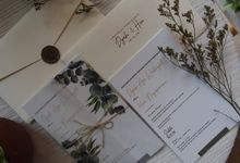 WEDDING INVITATION Navy Envelope & wax seal series by ChiffonCraft