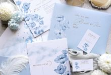 Blue Poppies by Trouvaille Invitation